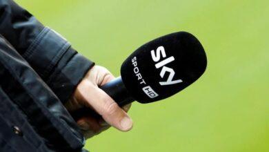 شعار قناة سكاي سبورتس المالك الحصري لحقوق بيع بث مباريات الدوري الإنجليزي الممتاز والدرجة الأولى والدرجات الأدنى حتى عام 2023 (صور: Getty)