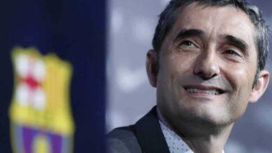 مدرب برشلونة فالفيردي (صور: AFP)