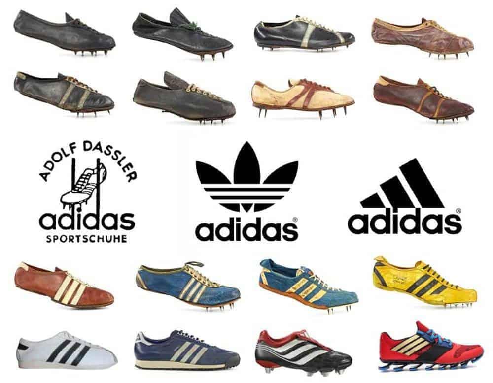 7716873dc0b3b مراحل تطوير منتجات أحذية أديداس وشعار اديداس (صور  Fine print)