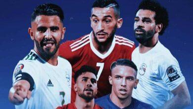 محمد صلاح ، حيكم زياش ، رياض محرز ، محمود تريزيجيه ، يوسف العربي -المحترفون العرب في صيف 2019 (صور: Mercatoday)