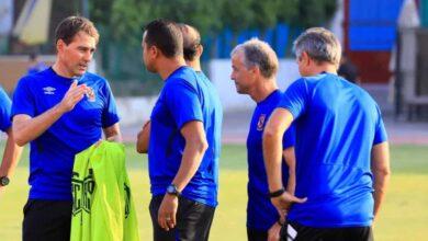 رينيه فايلر في تدريبات النادي الأهلي (صور: Ahly Egypt web site)