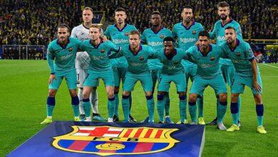 تشكيلة برشلونة أمام دورتموند (صور : MARCA)