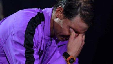 نادال يذرف الدموع بعد التتويج (صور : orange sport)