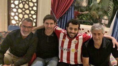تركي آل الشيخ رفقة سيتيين وكارانكا (صور : MARCA)