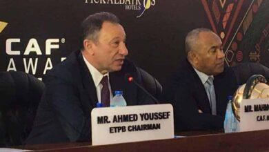 احتفال الكاف باستضافة مصر لحفل توزيع جوائز الأفضل لعام 2019 بحضور أحمد أحمد ورئيس الأهلي محمود الخطيب (صور: AhlyEgypt Web site)