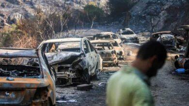 صور حريق لبنان (صور: AFP)