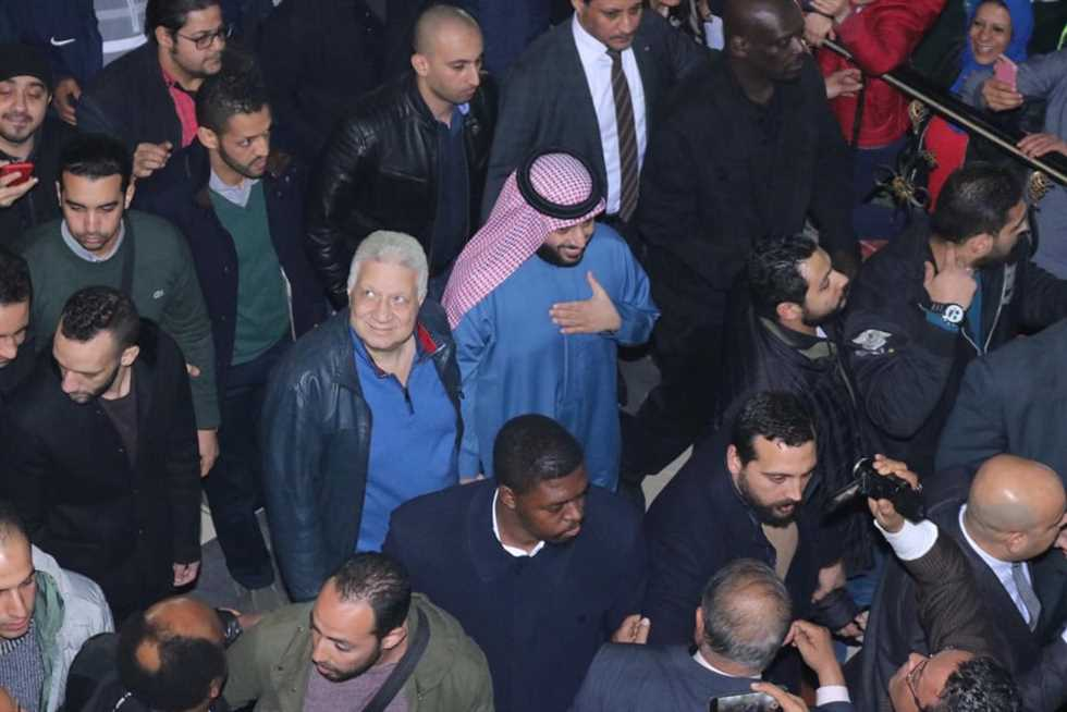 تركي آل الشيخ ومرتضى منصور (صور: Egypt Media)