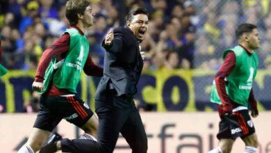 فرحة جاياردو بالتأهل مع ريفربليت إلى نهائي كوبا ليبرتادوريس للموسم الثاني على التوالي (صور: Getty)