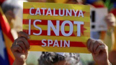 مظاهرات كتالونيا: كتالونيا ليست إسبانية (صور: AFP)