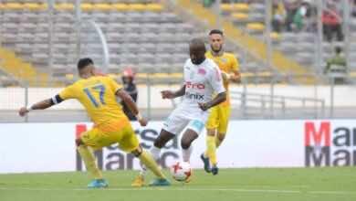 صورة نتيجة مباراة نهضة الزمامرة والرجاء فى البطولة الوطنية المغربية 2019-2020