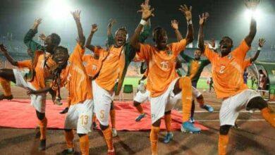 منتخب كوت دي فوار وفرحة التأهل الى المباراة النهائية فى بطولة أفريقيا لأقل 23 سنة (صور:Google)