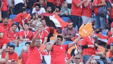مشدعين منتخب مصر من ملعب القاهرة الدولي (صور:Google)