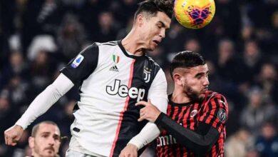 كريستيانو رونالدو في مباراة يوفنتوس ميلان الدوري الايطالي موسم 10-11-2019 (صور: Getty)