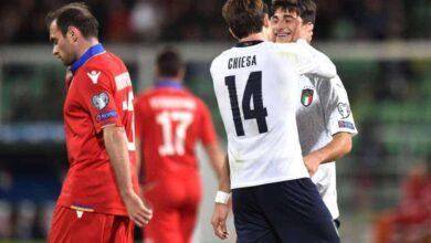 صورة أهداف حفلة إيطاليا على آرمينيا في ختام تصفيات يورو 2020
