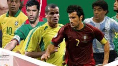مارادونا وفيجو يقودان منتخب العالم أمام نجوم أفريقيا في المغرب