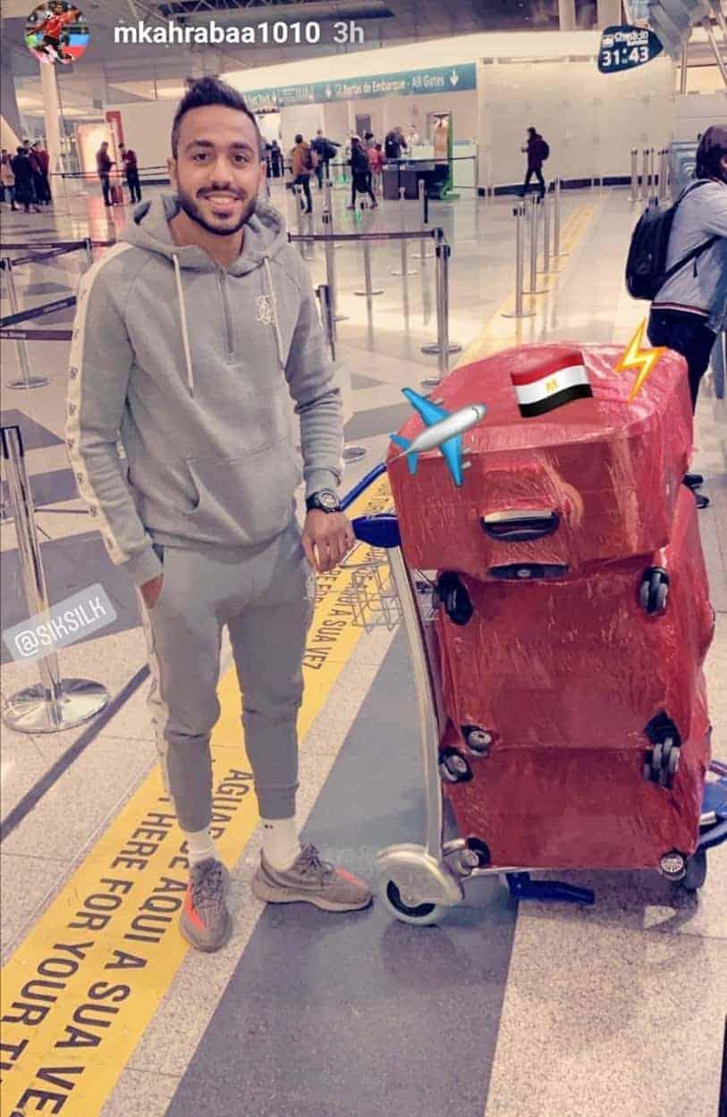 كهربا بعد عودته إلى مصر من البرتغال (صور: Instagram)