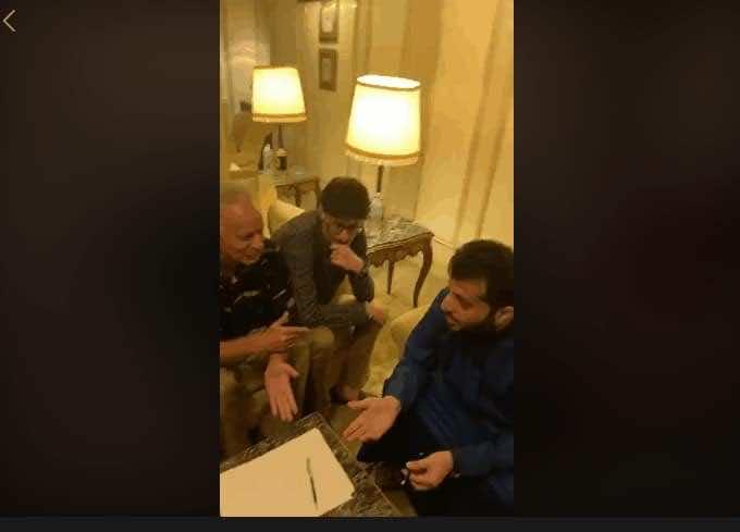 تركي آل الشيخ مع جمهور الأهلي (صور: Facebook)