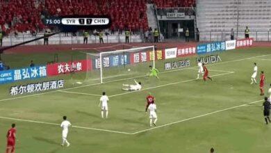 صورة أهداف مباراة سوريا والصين في تصفيات أمم آسيا وكأس العالم