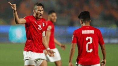 رمضان صبحي وعمار حمدي في مباراة مصر ومالي افتتاح كأس أمم أفريقيا تحت 23 عامًا (صور: AFP)
