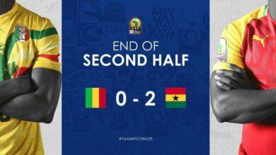أهداف مباراة غانا ومالي في أمم أفريقيا تحت 23 عامًا (صور: CAF online twitter)