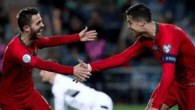 كريستيانو رونالدو برناردو سيلفا في مباراة البرتغال وليتوانيا بتصفيات يورو 2020 (صور: Getty)