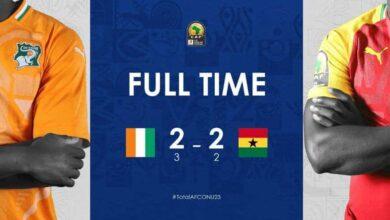 أهداف مباراة كوت دي فوار وغانا في نصف نهائي امم افريقيا تحت 23 عامًا (صور: CAF)