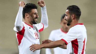 الأردن تهزم تايبيه الصيني في تصفيات امم اسيا وكأس العالم 2022 (صور: AFP)