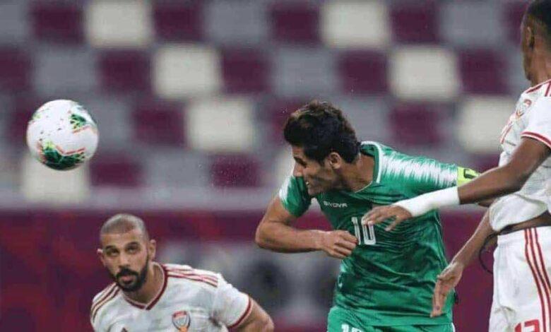 علاء عبد الزهرة يسجل هدف العراق الثاني امام الامارات في خليجي 24 (صور: AFP)