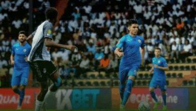 أشرف بن شرقي في مباراة مازيمبي والزمالك (صور: Twitter)