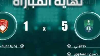 اهداف مباراة الاهلي وضمك فى الدوري السعودي