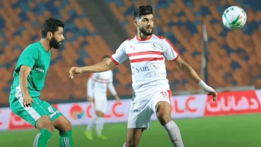 فرجاني ساسي في مباراة الزمالك والشرقية الزقازيق في كأس مصر 2019 (صور: PS twitter)