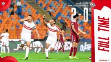 فوز الزمالك أمام بيراميدز في الجولة السابعة المؤجلة من شهر نوفمبر بهدفي مصطفى محمد ومحمود علاء على ستاد القاهرة (صور: Zamalek SC Twitter)