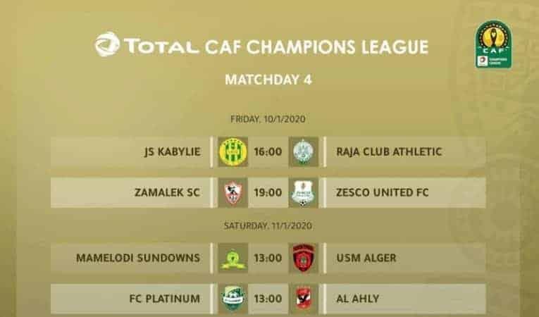 مواعيد مباريات الجولة 4 من دوري ابطال افريقيا 2020 (صور: CAF Twitter)