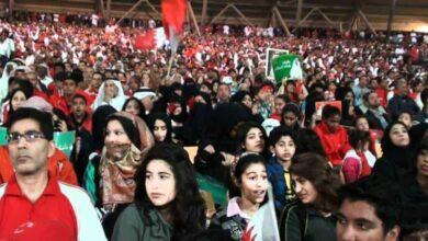 صورة وصول 250 مشجعاً بحرينياً إلى الدوحة لمؤازرة منتخب بلادهم أمام العراق