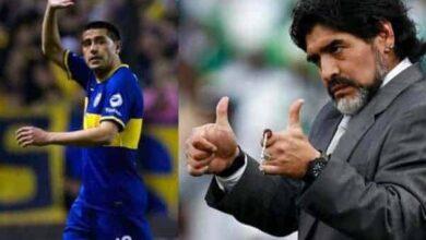صورة منافسة رياضية بنكهة سياسية بين مارادونا وريكيلمي في انتخابات بوكا