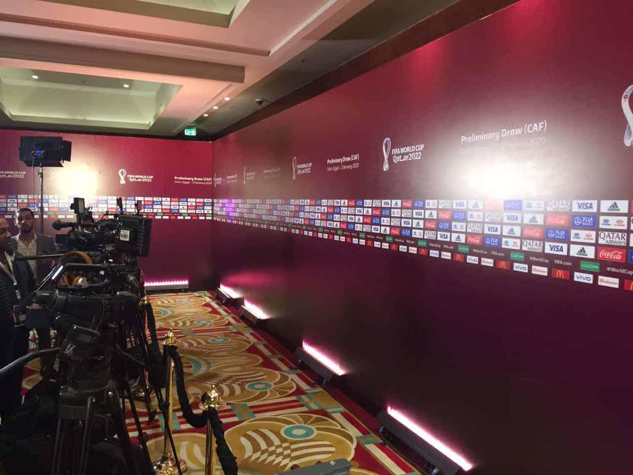 قاعة قرعة تصفيات مونديال قطر 2022 عن قارة أفريقيا في القاهرة (صور: MahmoudMaher)