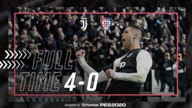 مباراة يوفنتوس وكالياري فى الدوري الايطالي (صور:twitter)