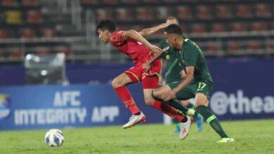 مباراة البحرين واستراليا فى كأس اسيا تحت 23 سنة (صور:twitter)