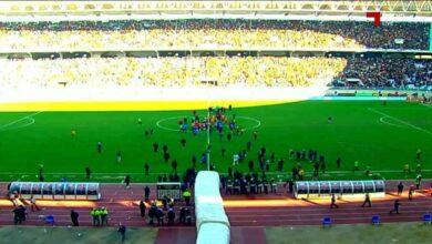 انتهاء مباراة الترجي والافريقي فى الدوري التونسي (صور:twitter)