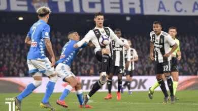 مباراة يوفنتوس ونابولي فى الدوري الايطالي (صور:twitter)