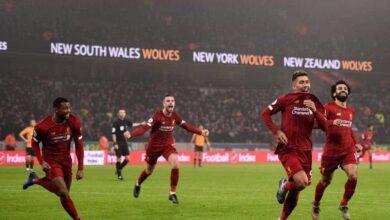 فيرمينو يسجل هدف فوز ليفربول على ولفرهامبتون في الجولة 24 من البريميرليج اليوم الخميس 23-1-2020 (صور: Getty)