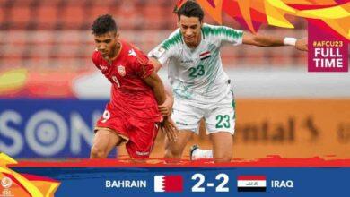 تعادل صعب للعراق أمام البحرين في امم اسيا تحت 23 عامًا (صور: AFC Twitter)