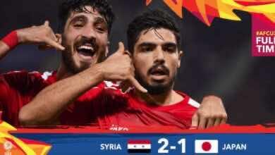 صورة أهداف مباراة سوريا واليابان في كأس أمم آسيا تحت 23 عامًا