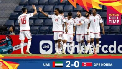 صورة أهداف مباراة الإمارات وكوريا الشمالية في كأس أمم آسيا تحت 23 عامًا