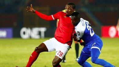 جونيور أجايي في مباراة الأهلي والهلال (صور: AFP)