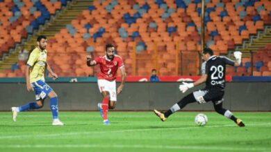 هدف محمود كهربا في مباراة الأهلي وطنطا (صور: Mercatoday)