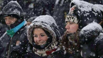 جمهور كرة القدم - مباريات اليوم - ثلوج (صور: Getty)