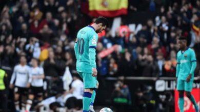 """صورة سيتين """"يرسب"""" في الاختبار الحقيقي الأول مع برشلونة ضد فالنسيا"""