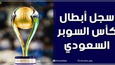 سجل أبطال كأس السوبر السعودي منذ عام 2013