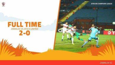 مباراة الزمالك وزيسكو فى دوري ابطال افريقيا (صور:twitter)